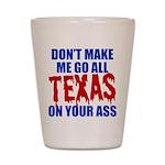 Texas Baseball Shot Glass