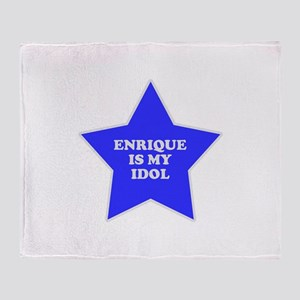 Enrique Is My Idol Throw Blanket