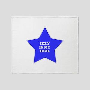 Izzy Is My Idol Throw Blanket