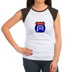 American Illegals Red-Blue Women's Cap Sleeve T-Sh
