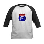 American Illegals Red-Blue Kids Baseball Jersey