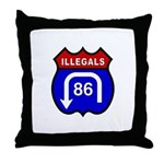 American Illegals Red-Blue Throw Pillow