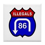 American Illegals Red-Blue Tile Coaster
