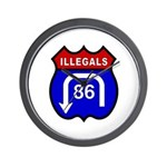 American Illegals Red-Blue Wall Clock