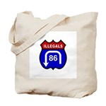 American Illegals Red-Blue Tote Bag