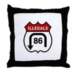 American Illegals Red Throw Pillow