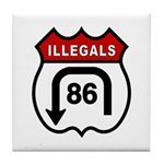 American Illegals Red Tile Coaster