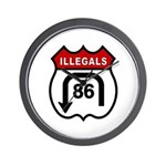 American Illegals Red Wall Clock