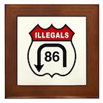 American Illegals Red Framed Tile