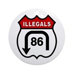 American Illegals Red Ornament (Round)