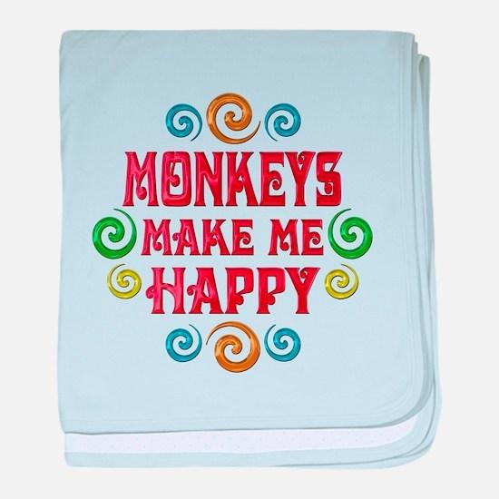 Monkey Happiness baby blanket