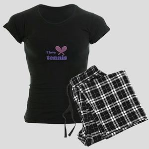 i love tennis (pink/lilac) Women's Dark Pajamas