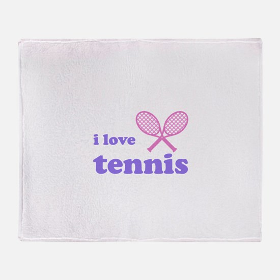 i love tennis (pink/lilac) Throw Blanket