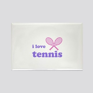 i love tennis (pink/lilac) Rectangle Magnet