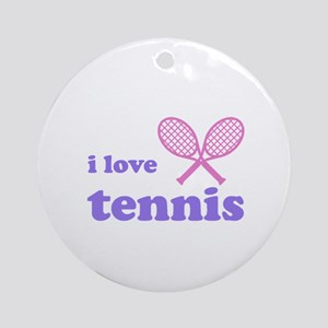 i love tennis (pink/lilac) Ornament (Round)
