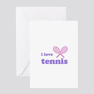i love tennis (pink/lilac) Greeting Card