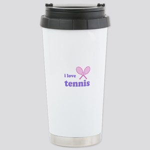 i love tennis (pink/lilac) Stainless Steel Travel