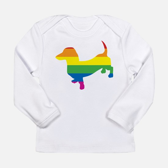 Gay Pride Dachshund Long Sleeve Infant T-Shirt