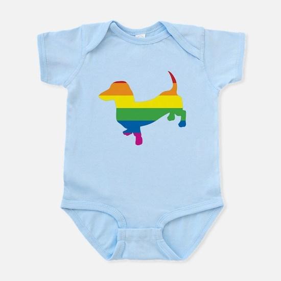 Gay Pride Dachshund Infant Bodysuit