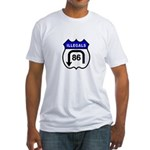American Illegals Blue Fitted T-Shirt