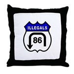 American Illegals Blue Throw Pillow