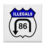 American Illegals Blue Tile Coaster