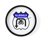 American Illegals Blue Wall Clock