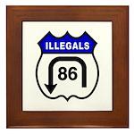 American Illegals Blue Framed Tile