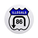 American Illegals Blue Ornament (Round)