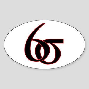 6 Sigma Oval Sticker