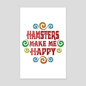 Hamster Happiness Mini Poster Print