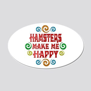 Hamster Happiness 22x14 Oval Wall Peel