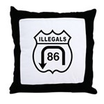 American Illegals Black Throw Pillow
