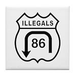 American Illegals Black Tile Coaster