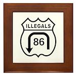 American Illegals Black Framed Tile