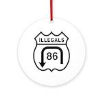 American Illegals Black Ornament (Round)