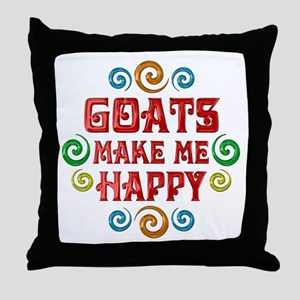 Goat Happiness Throw Pillow