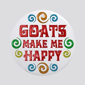 Goat Happiness Ornament (Round)