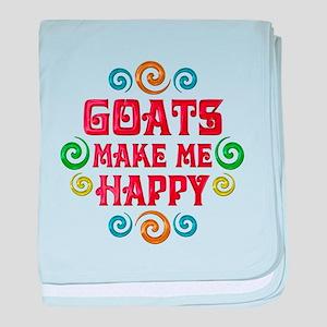 Goat Happiness baby blanket