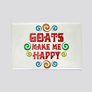 Goat Happiness Rectangle Magnet