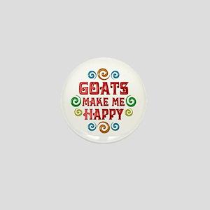 Goat Happiness Mini Button