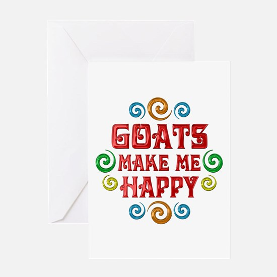 Goat Happiness Greeting Card