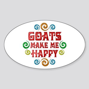 Goat Happiness Sticker (Oval)