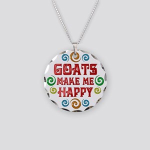 Goat Happiness Necklace Circle Charm