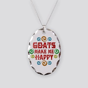 Goat Happiness Necklace Oval Charm