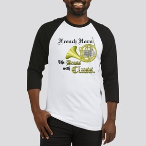 French Horn- The Brass with Class Baseball Jersey