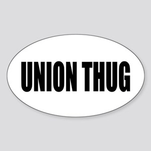 UNION THUG: Sticker (Oval)