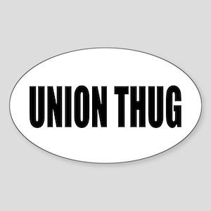 UNION THUG: Sticker (Oval)