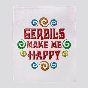 Gerbil Happiness Throw Blanket