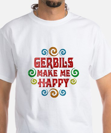 Gerbil Happiness White T-Shirt